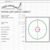 feuille de calcul pour faire jupe cercle