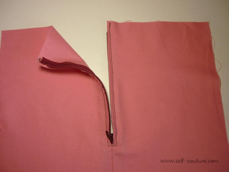 La fermeture clair self couture for Couture a la main invisible