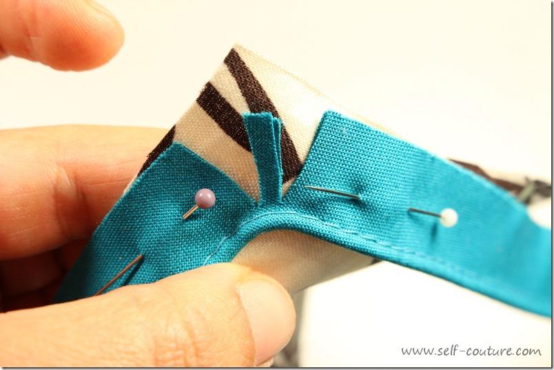 Comment coudre le passepoil self couture - Coudre un biais en angle ...