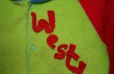 detail veste tissu polaire