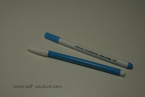 crayon marqueur couture