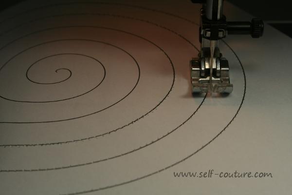 exercice couture spirale