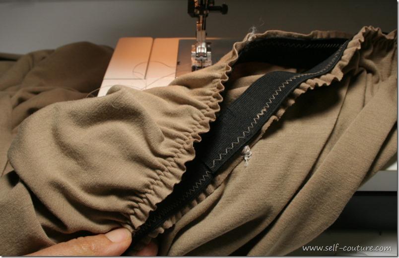 fronces tissu élastique