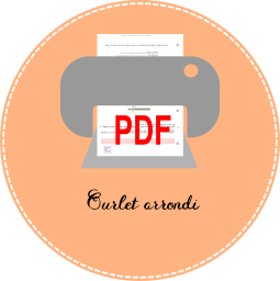 3.3 icon pdf Ourlet arrondi