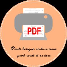 pdf Points basiques couture main: point avant et arrière