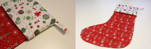 couture DIY chausson de Noël